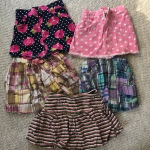 Lot of girls skirts, size 4T, old navy